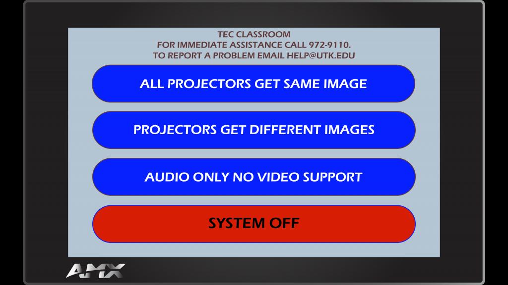 AMX Style 11 Main Screen