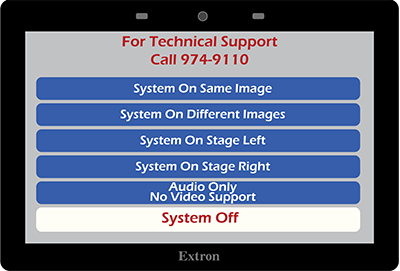 This image has an empty alt attribute; its file name is Extron-Style-3-Main-Screen.png