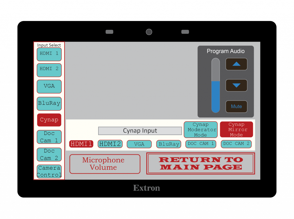 Extron Style 8 - Sub screen 1
